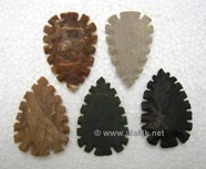 Picture of Eccentric Crescent shape Flinted Arrowhead