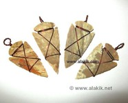Picture of Copper Wire Wrapped Arrowhead pendant Design 1
