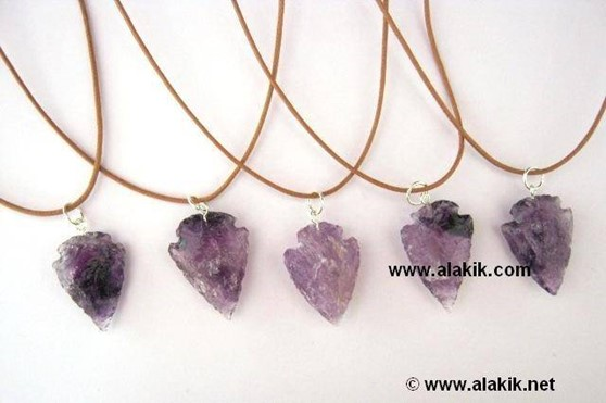 Picture of Amethyst Arrowhead Necklace