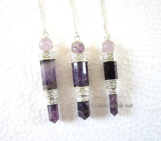 Picture of Amethyst 3pcs Small Wand Pendulum