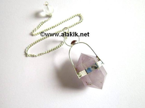 Picture of Amethyst Herkimer with Garnet Cab Pendulum