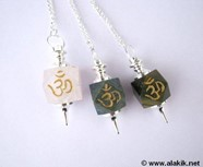 Picture of Mix stone Hexagon Engrave OM Pendulum