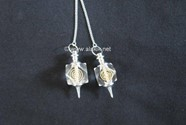 Picture of Crystal Quartz Hexagon engrave Reiki pendulum