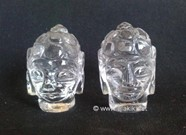 Picture of Crystal Quartz Buddha Head