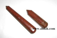 Picture of Red Jasper Faceted Massage Wand