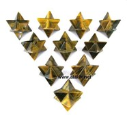 Picture of Yellow Tiger Eye Merkaba Star