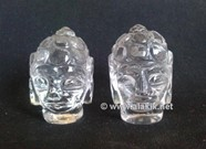 Picture of Crystal Quartz Buddha Heads