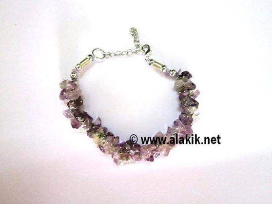 Picture of Amethyst Chip-Fusewire Bracelet
