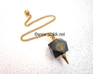 Picture of Black Onyx Reiki Pendulum w/. Golden chain