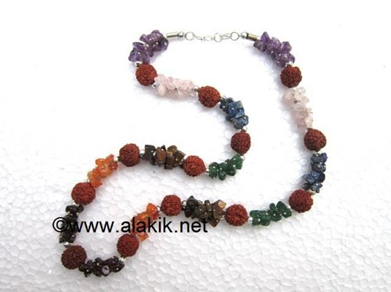 Picture of 7 Chakra-Rudraksha Necklace