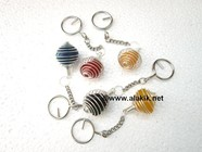 Picture of Mix stone Tumble Cage key chains