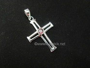 Picture of Cross with Iolite Cab 925 pendant