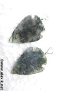 Picture of Moss Agate arrowhead pendant