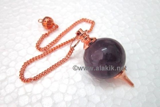 Picture of Amethyst Bronze Ball pendulum