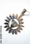 Picture of Throat Chakra 925 silver blue topaz pendant
