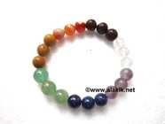 Picture of 7 Chakra elastic 8-10mm bracelet