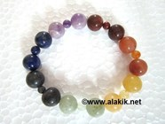 Picture of 7 chakra Elastic Bracelet 2x1 beads