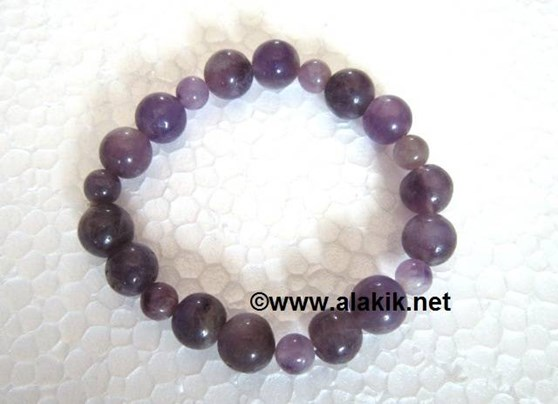Picture of Amethyst 2x1 beads Elastic Bracelet