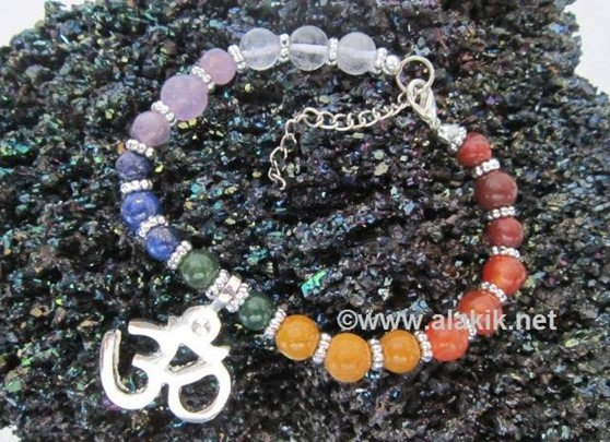 Picture of 7 Chakra Om Charm Bracelet