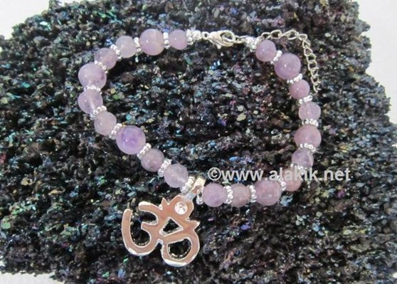 Picture of Amethyst Om charm Bracelet
