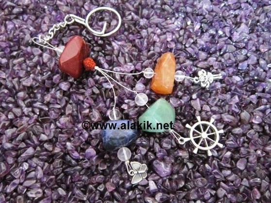Picture of 4 Tumble with charms Key Rings