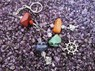 Picture of 4 Tumble with charms Key Rings, Picture 1