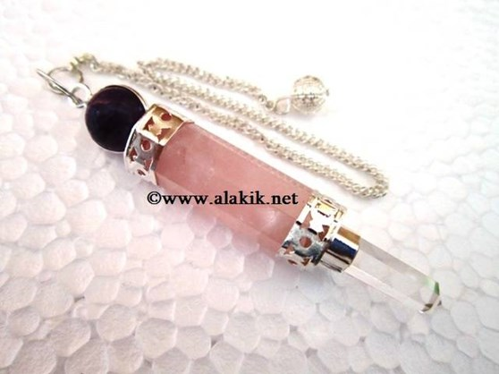 Picture of 3pc Wand Pendulum crystal point Amethyst ball