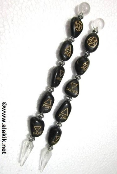 Picture of 5 Element Tumble Healing Wands Black Agate