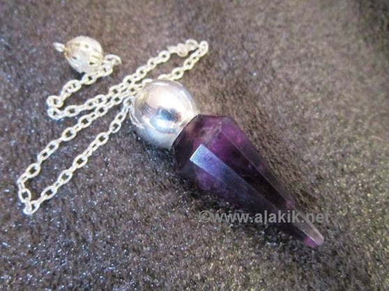 Picture of Amethyst Faceted Silver modular pendulum