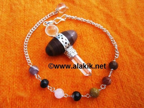 Picture of 3pc Lingam pendulum with chakra chain