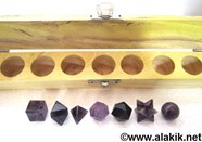 Picture of Amethyst 7pcs Geometry set with wooden box