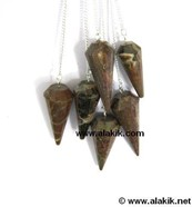 Picture of Petrifiedwood pendulum 12 facets