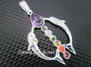 Picture of Chakra Metal Dolphin Pendant