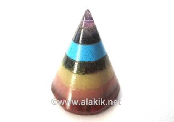 Picture of 7 Chakra Bonded Conical Pyramids