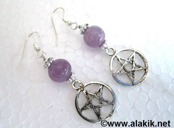 Picture of Amethyst Pentacle Earring