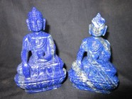 Picture of Twin Lapis Lazule Buddha Idols