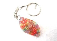 Picture of Chakra eye orgone key ring