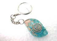 Picture of Tourquise eye orgone key ring