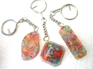Picture of Mix design chakra orgone key rings