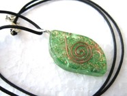 Picture of Green Eye orgone pendant with cord
