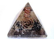 Picture of Black Tourmaline Orgone Pyramids with copper wrapped point