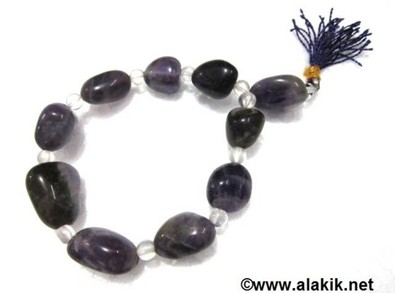 Picture of Amethyst Tumble with crystal Power  Bracelet
