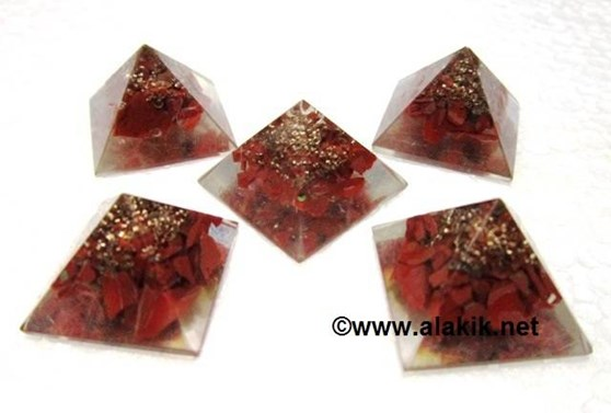 Picture of Baby Orgone Red Jasper pyramid