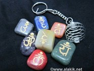 Picture of Engrave Sanskrit tumble with silver keychain