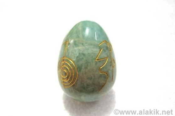 Picture of Amazonite Engrave USAI Reiki Egg
