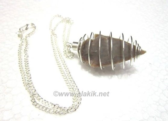 Picture of Arrowhead in silver cage with chain