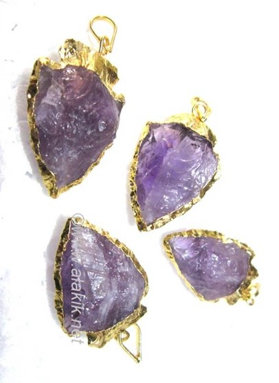 Picture of Amethyst Gold Electro plated Arrowheads