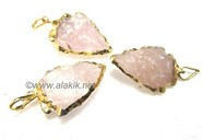 Picture of Rose Quartz Gold Electro plated Arrowhead