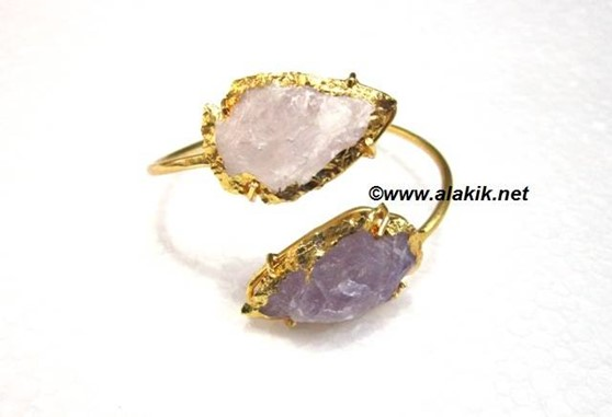 Picture of Amethyst Crytal Combi Arrowhead  Bangle
