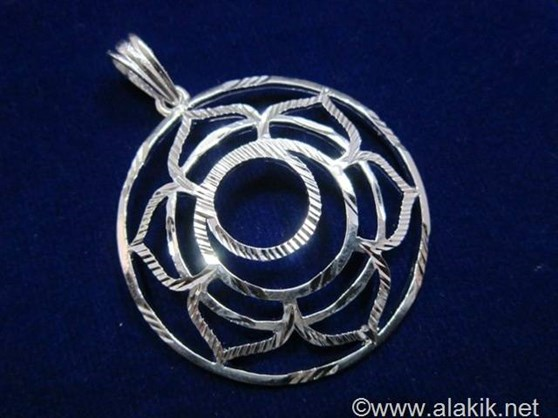Picture of Sacral Chakra Cut Silver Metal Pendant